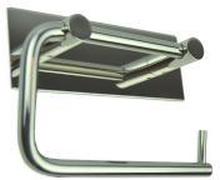 Nova Toalettpapirholder, m/bakplate, Polert rustfritt stål