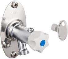 Mora Utendørskran 170-345 mm med grep og nøkkel - krom