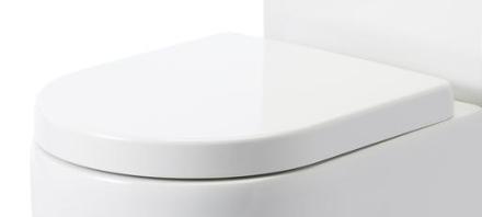 Lavabo Flo Toalettsits m/Softclose, Vit - till golvstående toalett
