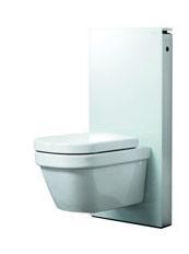 Geberit Monolith sisterne til vegghengt toalett - Hvit polert glass (eks. skål)