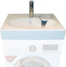 Claro Paketet - Komplett Tvättställ och GROHE Eurodisc Tvättställsblandare som kan monteras ovanför tvättmaskin