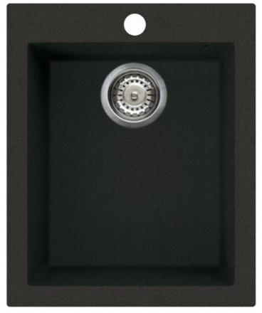 Lavabo Como 100 køkkenvask 41x50 cm, m/bundventil, Granitek