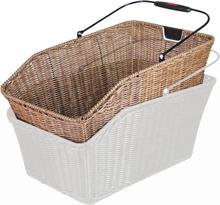 KlickFix Structura GT Basket För pakethållare brown 2020 Cykelkorgar för pakethållare