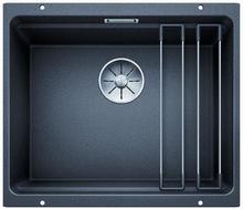 Blanco Etagon 500-U UXI Kjøkkenvask 53x46 cm/InFino kurvventil, Silgranit Antrasittgrå