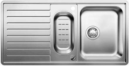 Blanco Classic PRO 6 S-IF Mikrokant Vändbar Diskbänk 100x51 cm m/Korgventil Rostfritt Stål