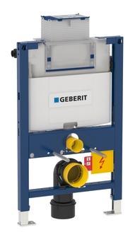 Geberit Duofix Omega innbygningscisterne top/frontbetjent wc-element Høyde 82 cm