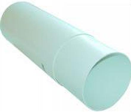 Murrör Ø100/108 mm, teleskopisk i vit plast
