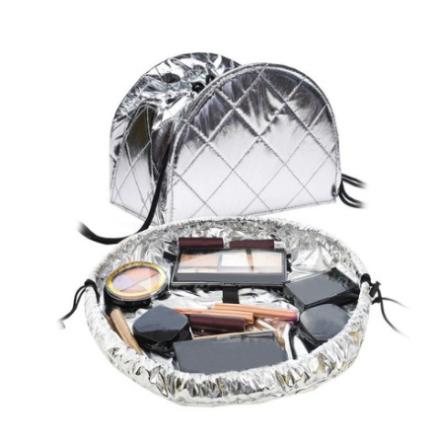 Zip Makeup Bag Metallic