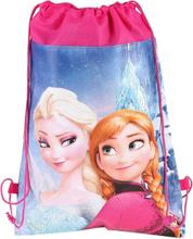 Frozen gymnastiktaske med Elsa og Anna