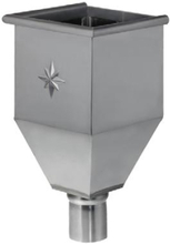 VM Zinc vandsamlerkasse m/studs Ø 76 mm, zink
