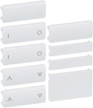 LK Fuga Tangentsæt til batteritryk, 6 slutte, 1½ modul, Hvid