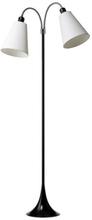 Goldlampan fotgängare med 2 armar (exkl. lampskärmar), Svart