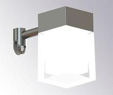 Loevschall Cube LED spegellampa till montering på spegel, 3W, Krom/glas med matt insida
