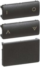 LK IHC Wireless Fuga Tangentsæt til batteritryk, 2 slutte, 1 modul, Koksgrå