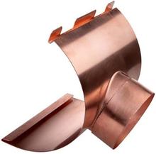 Plastmo tudstykke i kobber med Ø90 mm nedløb til tagrende nr. 12