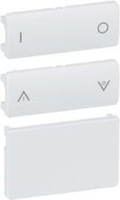 LK IHC Wireless Fuga Tangentsæt til batteritryk, 2 slutte, 1 modul, Hvid