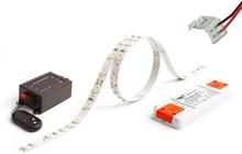 HiluX LED Bånd Komplet sæt med fjernbetjening, 950 lumen, 5 meter, Hvid