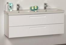 Noro Relounge møbelpakke med skuffer 120 x 42 cm i hvid højglans