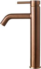 Primy Wave High håndvaskarmatur, kobber