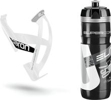 Elite Kit Supercorsa/Paron Bottle & Holder 0.75 litres black/white 2019 Drikkesystem