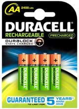 Duracell StayCharged Genopladelige AA Ni-MH Batterier - 4 stk.