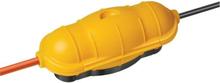 Sikkerhedsboks i gul til udendørs brug IP44