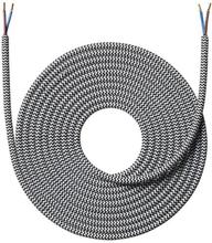 Nielsen Stofledning 2x0,75 mm², 4 meter, Sort/hvid