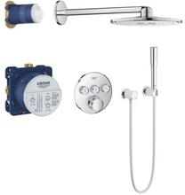 Grohe Grohtherm SmartControl brusesystem, 3 ventiler & Rainshower SmartActive hovedbruser Ø31 cm, krom