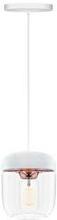 Umage Acorn Pendel med hvid ledning, Hvid/poleret kobber
