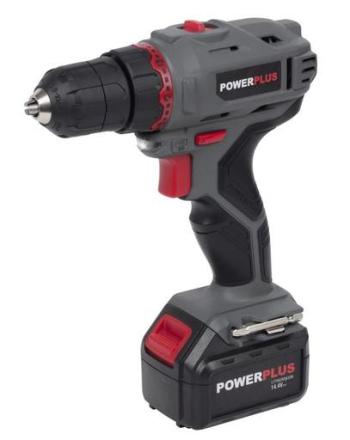 Powerplus E-line Bore-/Skruemaskine m/Lader 14,4V/1,3Ah