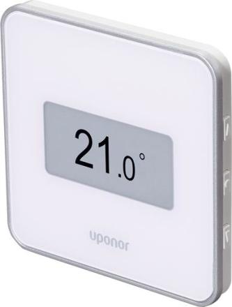 Uponor Smatrix Style trådlös T-169 termostat med display - Vit