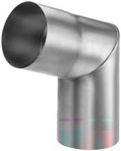 VM Zinc knærør t/udvendig samling 70 grader / 87 mm, zink