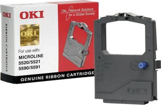 OKI Farvebånd 01126301 Original ML5520 ML5521 ML5590 ML5591 Passer til printere af mærket: OKI Sort 1 stk