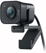 Logitech StreamCam - Webkamera - farve - 1920 x 1080 - 1080p - audio - USB-C 3.1 Gen 1 - MJPEG, YUY2 - GRAPHITE