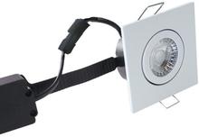 Nordtronic Low Profile Flexible 33 Firkantet Indbygningsspot 6W/827 LED, Mat hvid