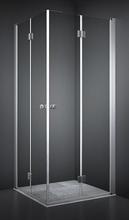 Dansani Match firkantet brusehjørne 90 x 90 cm med satin profil og klart glas - Model 4