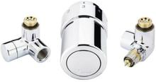 Danfoss komplet ventilsæt til regulering i krom - venstremontering
