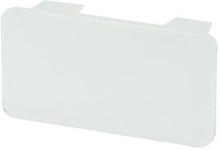 Rehau endestykke til kabelkanal LE 60/60 mm i perlehvid