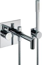 Børma A6 badekararmatur til indbygning med håndbruser i krom