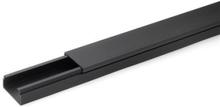 Rehau kabelkanal LE 35/20 mm i sort - 2 meter