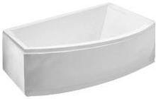 Royal Vigga asymmetrisk badekar med armatur højrevendt 160 x 105 cm