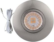 HiluX D1 Ind/påbygningsspot 3W/927 LED, Børstet stål