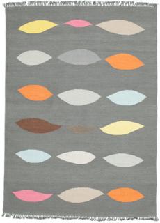Leaves - Grå matta 160x230 Orientalisk Matta