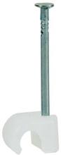 Kabelclips flad 3-5 mm i natur