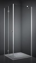 Dansani Match firkantet brusehjørne 90 x 90 cm med satin profil og klart glas - Model 13