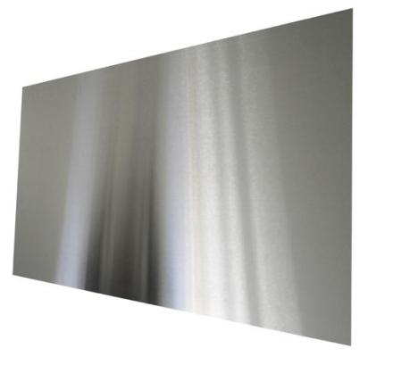 Millarco firkantet stænkplade 90 x 45 cm i børstet rustfrit stål