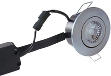 Nordtronic Low Profile Flexible 33 Rund Indbygningsspot 6W/827 LED, Børstet stål