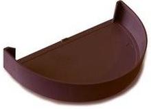 Plastmo endebund i brun til tagrende nr. 12