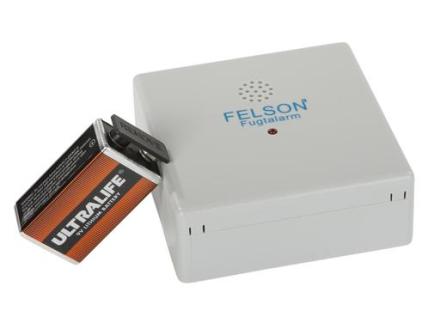 Felson fugtalarm med lithium batteri i grå