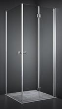 Dansani Match firkantet brusehjørne 90 x 90 cm med satin profil og klart glas - Model 2